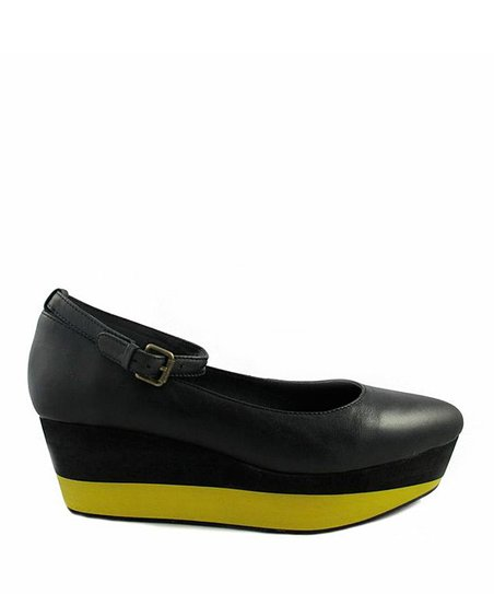Black & Yellow Mag Platform Shoe