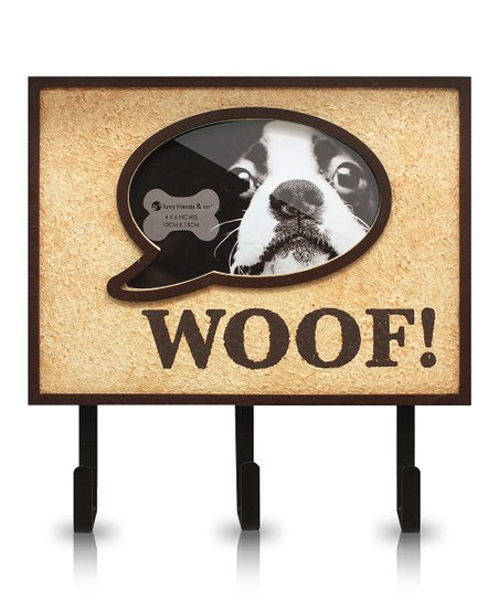 Brown 'Woof' Key Rack Photo Frame