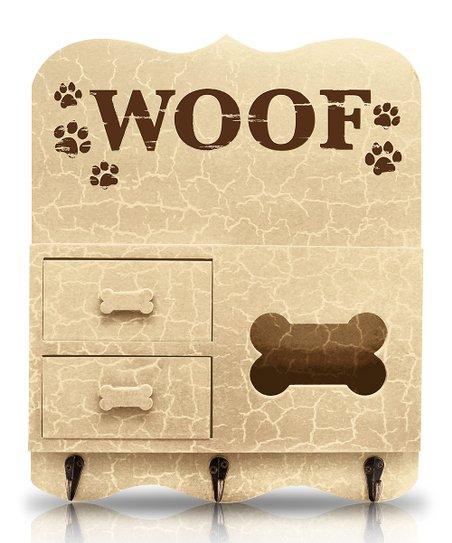 Beige 'Woof' Key Rack