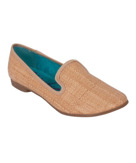 Natural Faux Straw Quick Loafer
