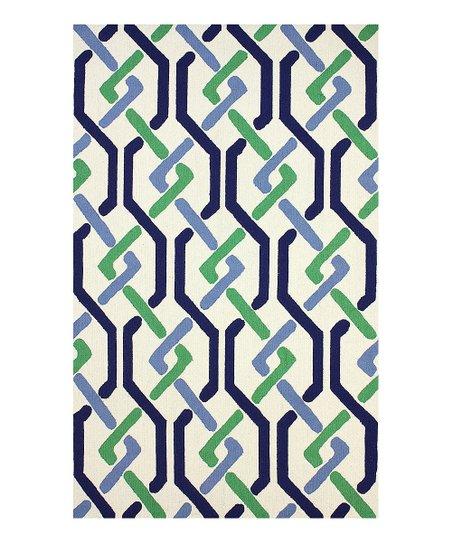 Green & Blue Antigua Wool Rug