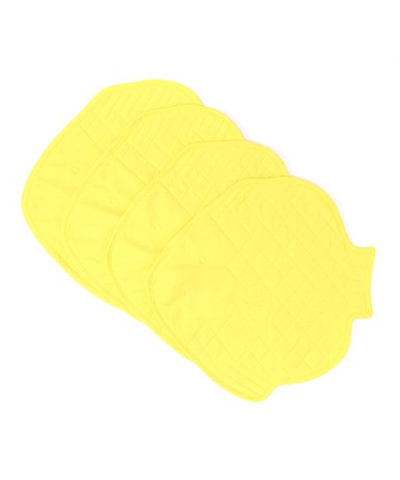 Split P Yellow Fish Place Mat - Set of Four