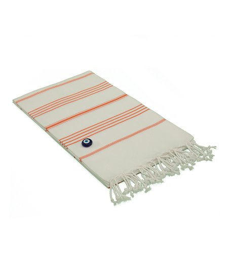 Orange & White Lucky Pestemal Blanket