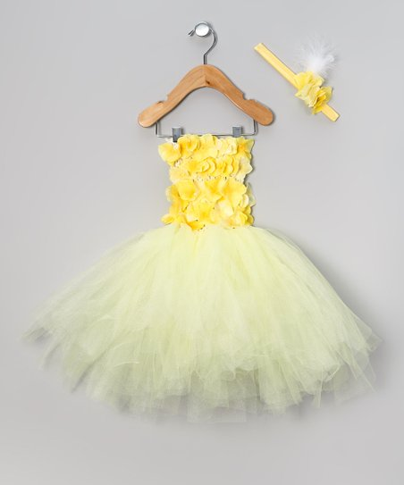 Yellow Buttercup Dress & Headband