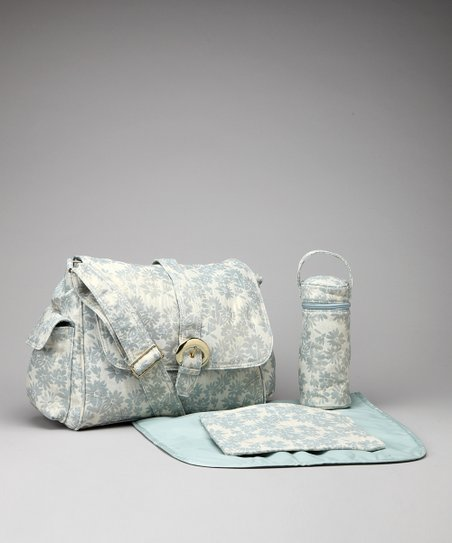 Sugar & Spice Blue A Step Above Buckle Diaper Bag