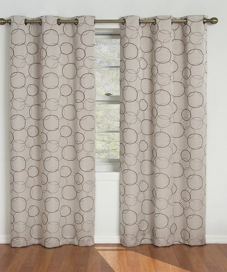 Linen Circle Eclipse Meridian Window Panel