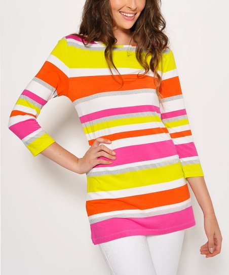 Orange & Pink Stripe Tunic