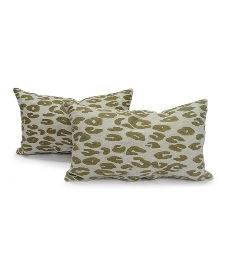 Tan Catz Chainstitch Boudoir Pillow - Set of Two