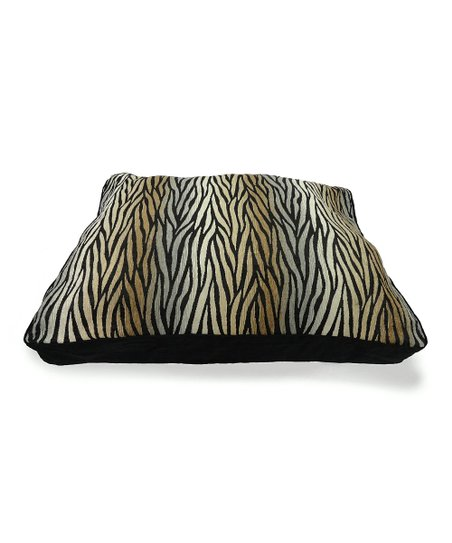 Black & Beige Funky Skin Pet Bed