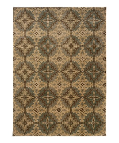 Ivory & Green Intermezzo Rug