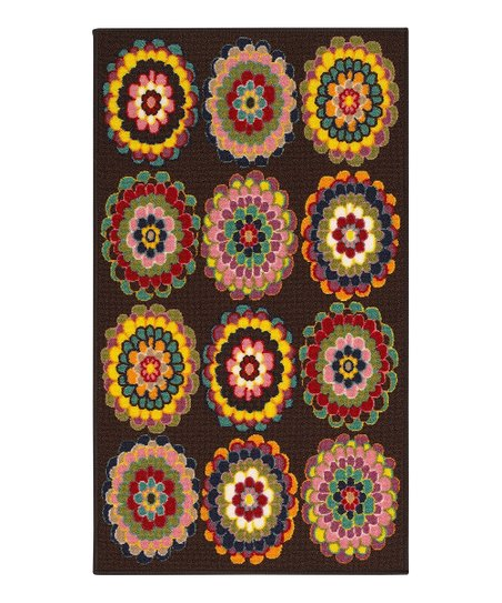 Brown Medallion Blossom Rug