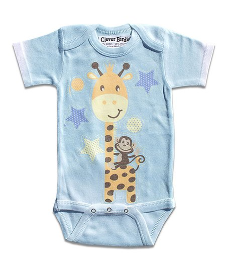 Aqua Giraffe Bodysuit - Infant