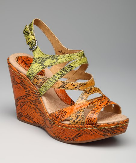 Green & Orange Brygida Sandal