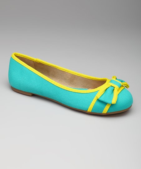 Teal & Yellow Lee Lee Flat