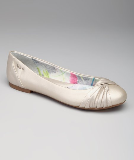 Champagne Metallic Parisian Flat