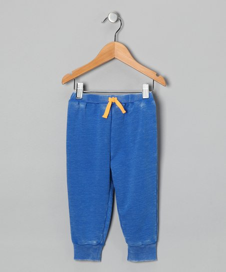 Blue Acid Wash French Terry Pants - Infant