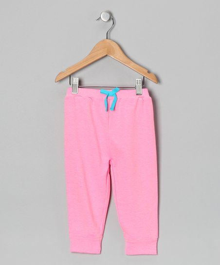 Pink Acid Wash French Terry Pants - Infant