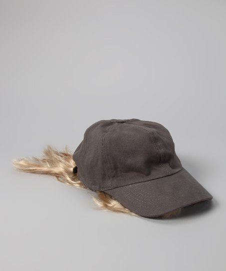 Gray & Blonde Bangs Baseball Hat - Kids