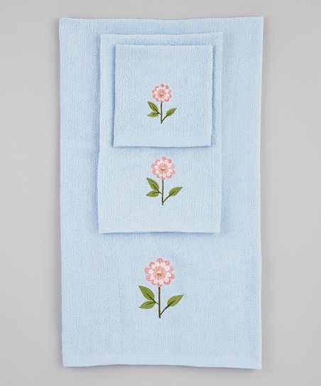 Blue Bella Towel Set