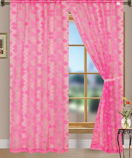 Pink Eclipse Curtain Panel - Set of Two