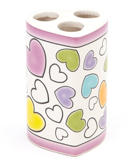 Hearts Toothbrush Holder