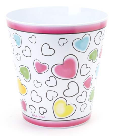 Hearts Waste Basket