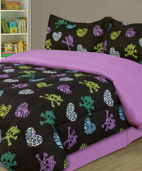 Purple Zebra Party Comforter Set