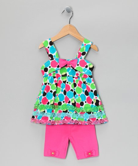 Pink Polka Dot Tunic & Shorts - Infant & Toddler