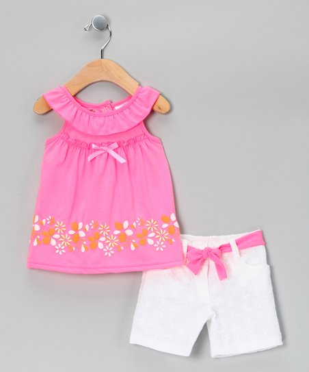 Pink Floral Dress & Shorts - Infant