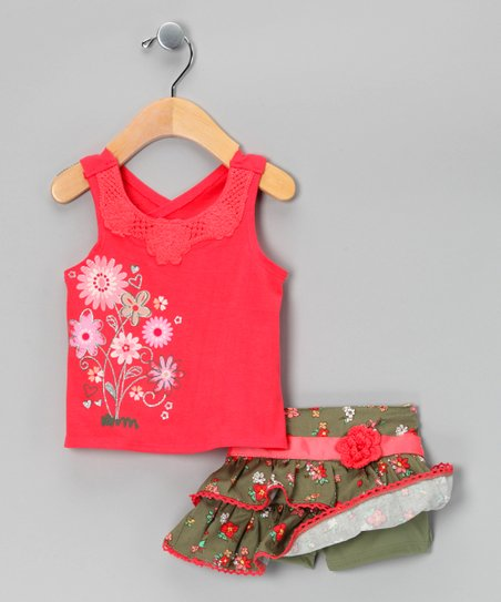 Pink Floral Top & Skirt - Infant