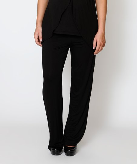 Black Essential Under-Belly Maternity Pants - Women