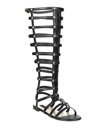 Black Maximus Gladiator Sandal