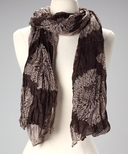 Mocha Floral Scarf