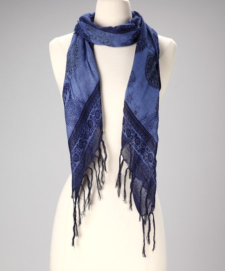 Indigo Paisley Scarf