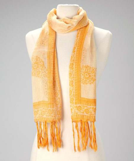 Sunflower Paisley Scarf