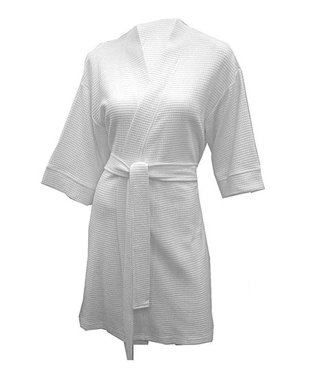 White Kimono Robe - Women