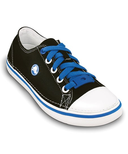 Black & Sea Blue Hover Sneaker - Kids