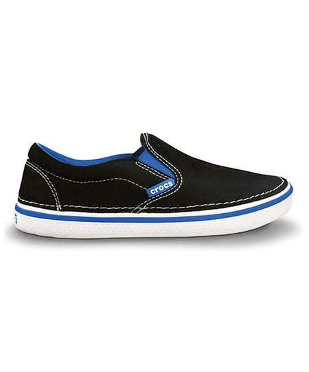 Black & Sea Blue Hover Slip-On Sneaker - Kids