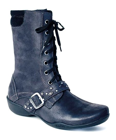 Black Distressed Cadette Boot
