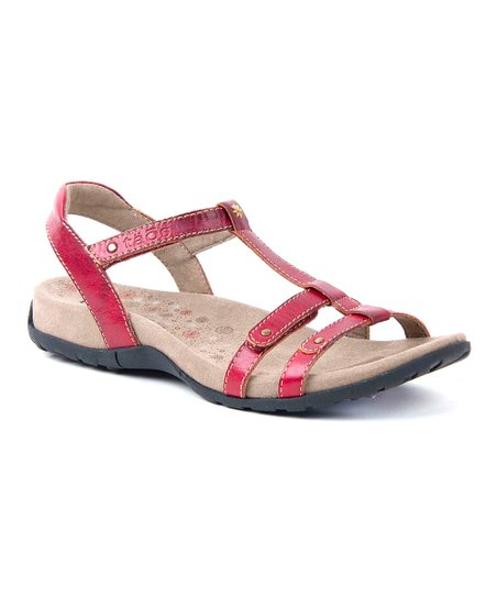 Red Trophy Sandal