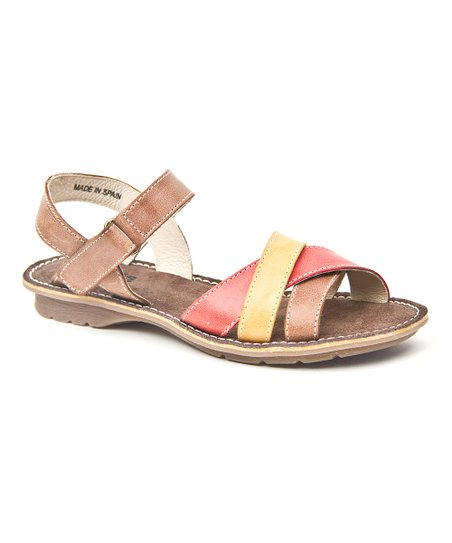 Brown & Coral Treat Sandal