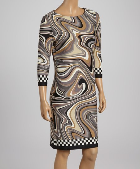 Gray Marbled Shift Dress – Women