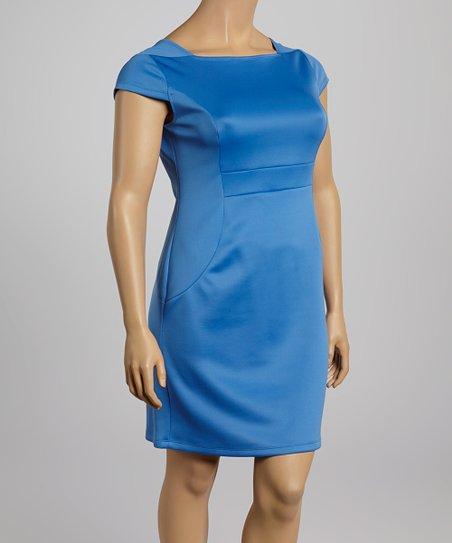 Laguna Scuba Sheath Dress – Plus
