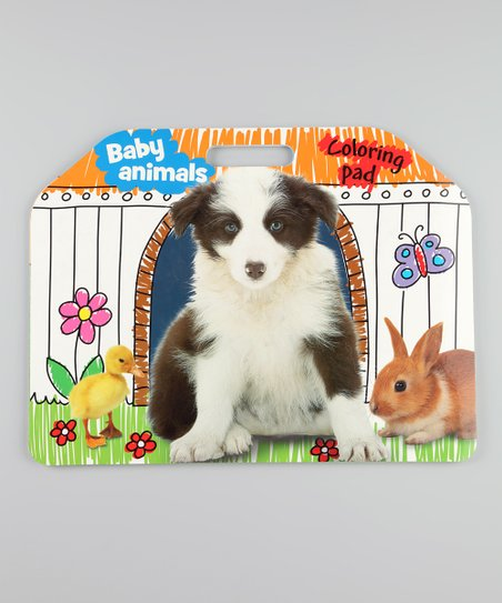 Baby Animals Giant Coloring Pad Paperback