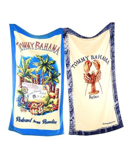 'Postcard' & Lobster Tommy Bahama Beach Towel Set