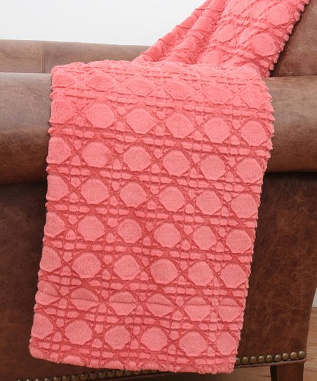 Spiced Coral Cane Sculpted Throw
