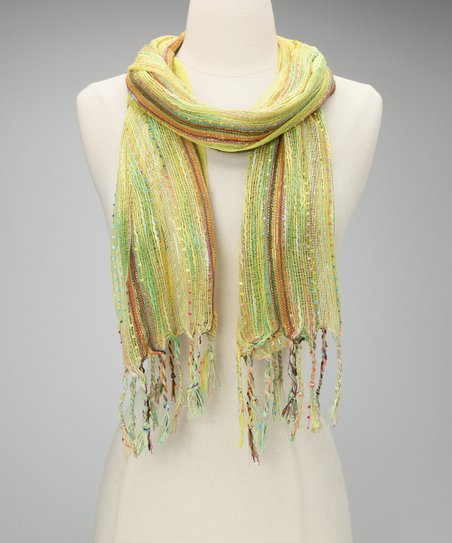 Yellow Metallic Confetti Scarf