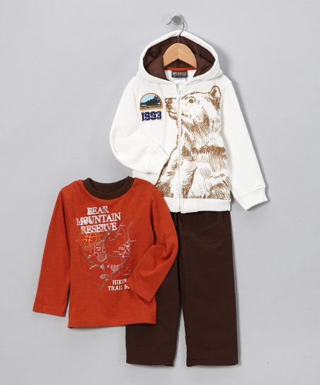 Orange & Cream 'Bear Mountain' Set - Toddler