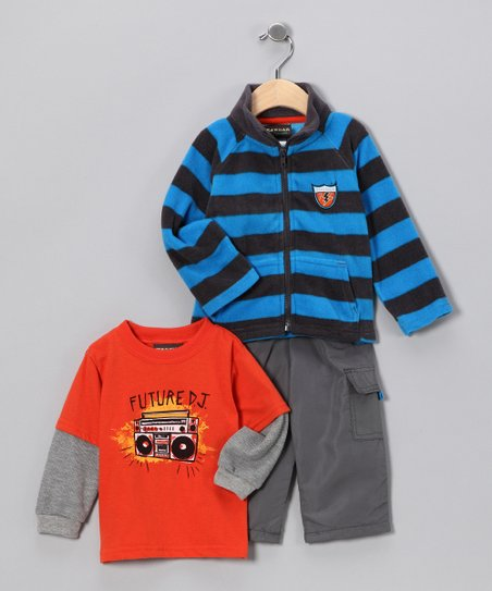 Orange & Blue DJ Stripe Set - Infant
