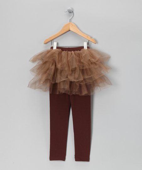 Brown Skirted Leggings - Toddler & Girls